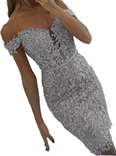 Womens Short Mermaid Lace Prom Cocktail Dress Off Evening Party Gowns