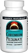 Source Naturals Chromium Picolinate, 200mcg, 240 Tablets