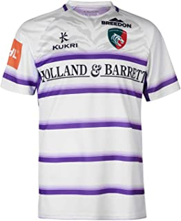 Kukri Leicester Tigers Alternate Rugby Shirt Mens White Sports Fan Top