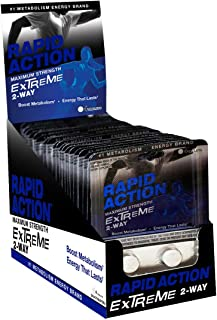 Extreme by Rapid Action Energy Pills, 96 Count - Metabolism Booster, Fat Burning Supplement, Caffeine Pills - Energy Suppl...