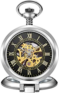 Pockethorloge Flip Handleiding Hollow Mechanical Pocket Watch Strap Ketting Vaderdag Gift