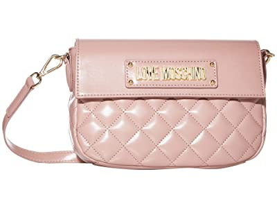 LOVE Moschino Shinny Quilted Bag (Cipria/Poudre) Handbags