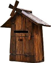 Handcraft Wood brievenbus voor buiten, tuin, windmolen, van hout, villa, voor water en elektriciteit, ansichtkaarten aan d...