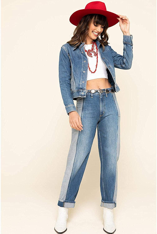 Lee Women's Contrast Denim Seamed Jacket Blue X-Small