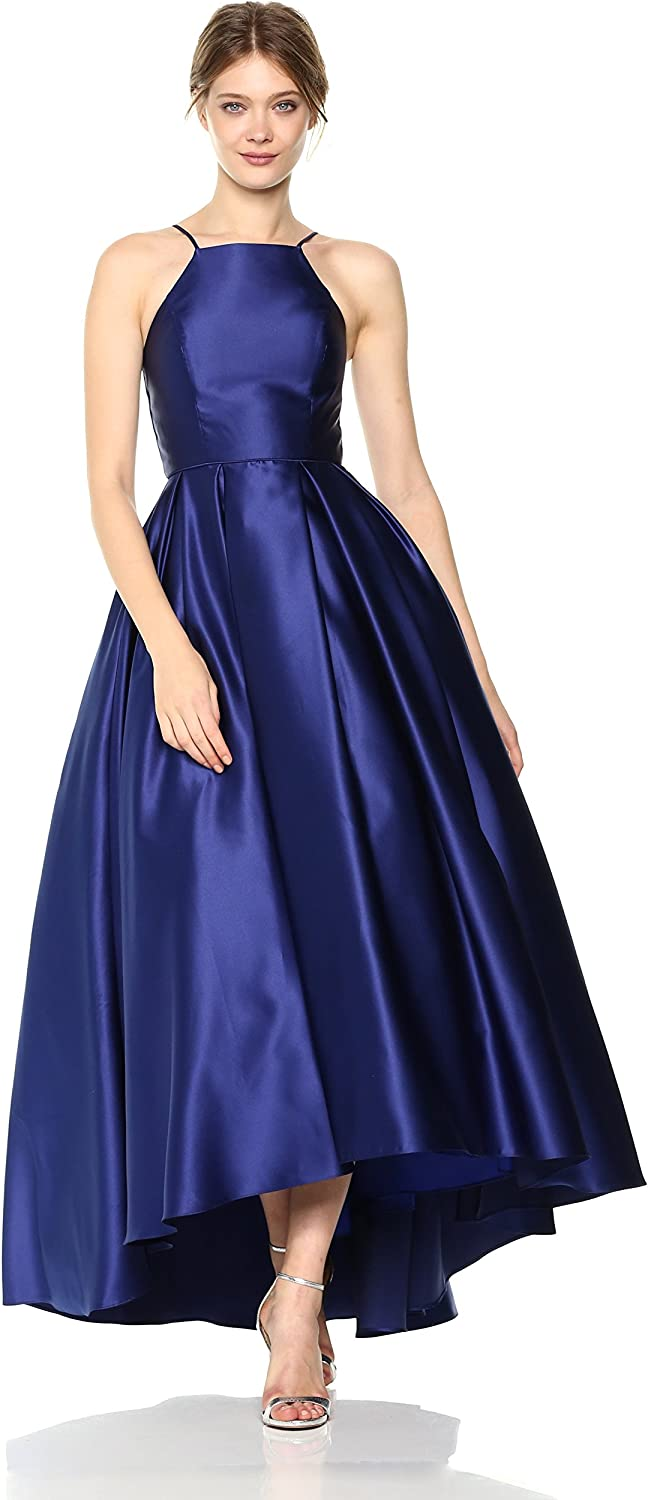 Betsy & Adam Womens Long Hi Lo Ballgown Cocktail Dress