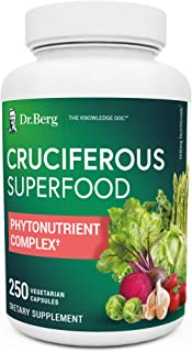 Sponsored Ad - Dr. Berg's Cruciferous Superfood - Whole Food Vegetable Supplement w/ Organic Freeze-Dried Phytonutrient & ...