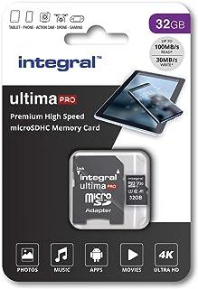 Integral INMSDHC32G - Tarjeta de memoria micro SDHC de alta velocidad (32 GB, incluye adaptador SD)