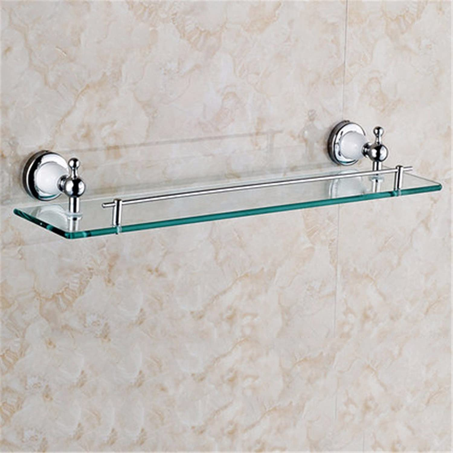 Continental copper grill white paint silver Bathroom Wall-packaged Toilet brush holder soap box, built-in shelf 1 B