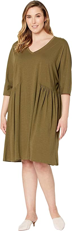 Plus Size Primula 3/4 Sleeve Above Knee Dress