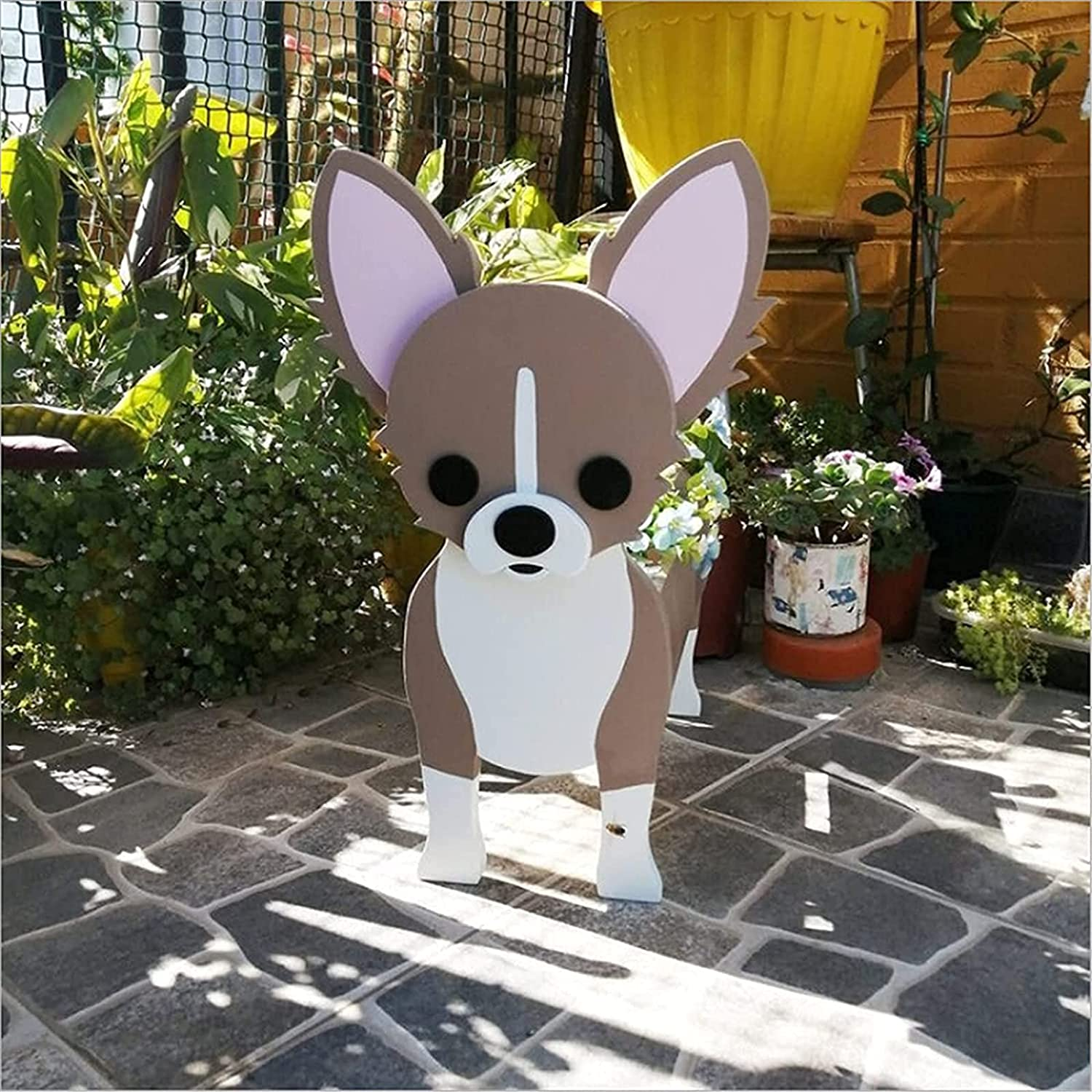 Cute Wood Dog Flower Free Shipping Cheap Bargain Gift Pot 2021 Do Cartoon Newest Wooden The Mail order cheap
