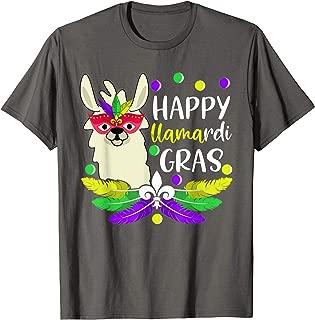Llama rdi Gras Shirt Beads Lover Mardi Gras Llama T-Shirt