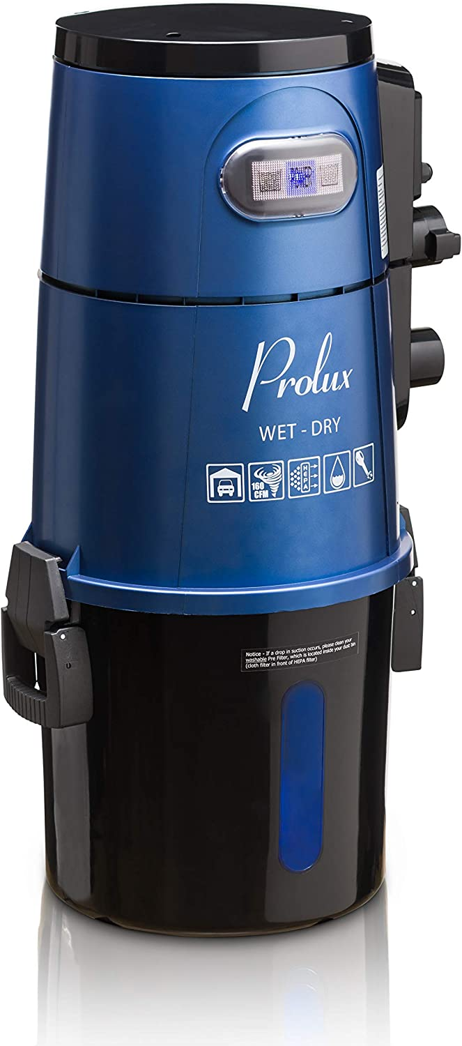 Prolux Professional Shop Blue Max 77% OFF Tucson Mall Wall Mounted Wet Garage Vac Pi Dry