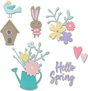 Sizzix 665091 Thinlits Hello Spring par Olivia Rose Lot de 16 Matrices de découpe pour scrapbooking, Multicolor, Taille un...