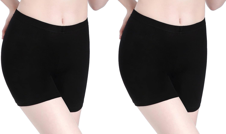 CnlanRow Womens Under Skirt Leggings Soft Ultra Stretch Short Leggings Fitness Shorts