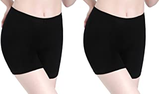 CnlanRow Womens Under Skirt Leggings Soft Ultra Stretch Short Leggings Fitness Shorts
