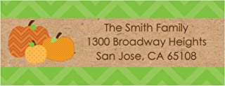 Big Dot of Happiness Custom Pumpkin Patch - Personalized Fall or Halloween Party Return Address Labels - Set of 30