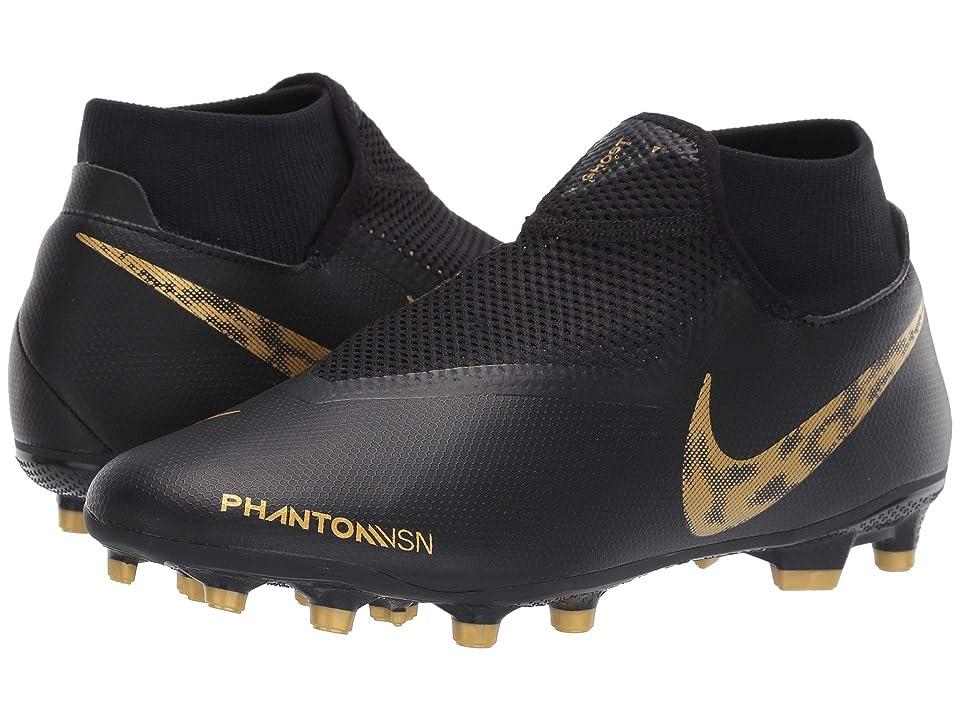 Nike Phantom VSN Academy DF MG (Black/Metallic Vivid Gold) Men's Soccer Shoes