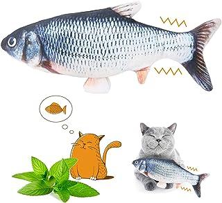 YOUTHINK Cat Juguete eléctrico para Peces con Juguetes Catnip Simulación Peluche en Forma de pez Muñeca interactiva Mascotas Almohada Chew Bite Kick Supplies para Gato/Gatito/Gatito