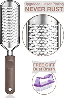 Colossal Foot Scrubber Foot File - Foot Rasp Callus Remover BTArtbox Large Stainless Steel Foot Grater Foot Care Pedicure Tools for Wet and Dry Feet