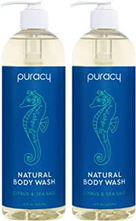 Puracy Natural Body Wash, Citrus & Sea Salt, Bath & Shower Gel for Men and Women,..
