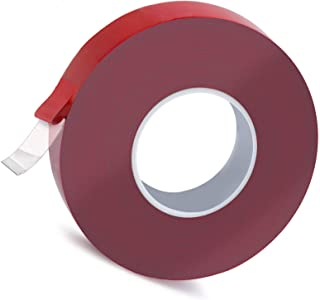 Double Sided Heavy Duty Indoor and Outdoor Mounting Tape,1 Inchs X 590 Inchs-Acrylic Removable Clear, Weatherproof