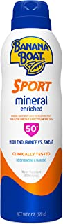 Banana Boat Simply Protect Sport Reef Friendly Sunscreen Spray, Broad Spectrum SPF 50, 25% Fewer Ingredients, 6 Ounces