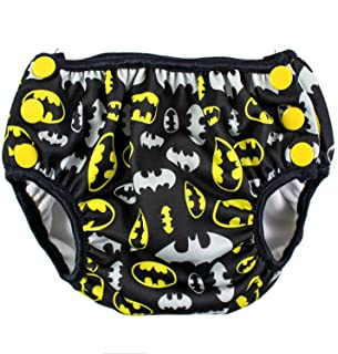 Bumkins DC Comics Reusable Swim Diaper, Batman Print, Small