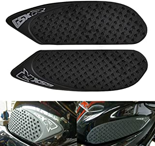 For Suzuki GSXR 600 750 2006-2007 GSXR600 GSXR750 Protector Anti slip Tank Pad Sticker Gas Knee Grip Traction Side with 3M Decal (Black)