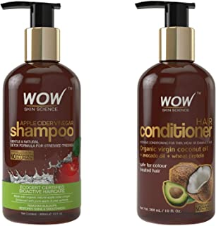 WOW Apple Cider Vinegar Colored Hair Shampoo and Conditioner Set for Women