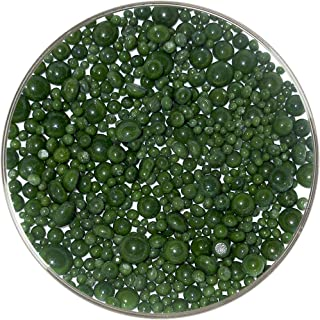Dark Green Opalescent Frit Balls - 96COE, New Larger 1oz Size - Made from System 96 Glass