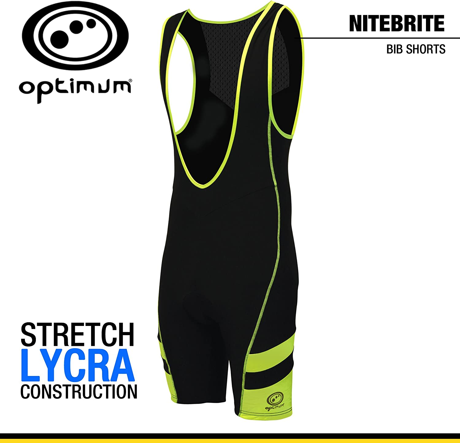 (X-Large) - Optimum Mens Nitebrite Bib Shorts
