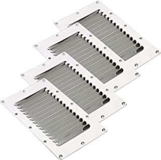 Amarine Made Stainless Steel Stamped Louvered Vent - Rectangular - 07720S - 5 X 9