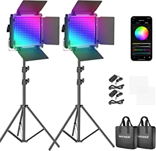 Neewer RGB Led Video Light with APP Control, 360°Full Color, 50W 660 PRO Video Lighting Kit CRI 98+ for Gaming, Streaming,...