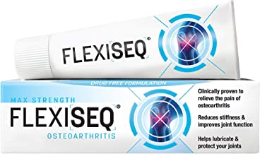 Flexiseq Osteoarthritis Topical Gel 50g, Osteo Arthritis Joint Pain Relief Aid, Drug Free Treatment for Joints Including Knees, Hands, Feet & Hip