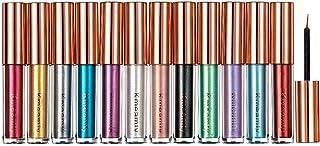 Colored Metallic Liquid Eyeliner Set, Kmeamty 12 Pcs Bright Winged Neon Shimmer Eyeshadow Eyeliners - Vegan, Cruelty Free ...