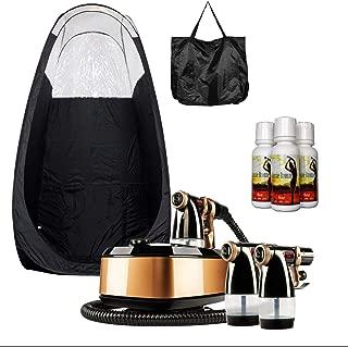 MaxiMist Allure Xena HVLP Spray Tanning System with Pop Up Tan Tent Black