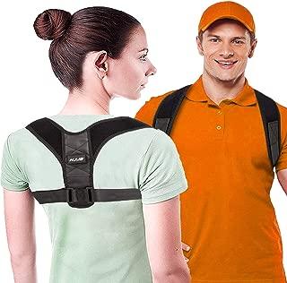 HJJS Back Posture Corrector for Women and Men - Upper Back Brace Clavicle Support Device for Thoracic Kyphosis and Shoulder - Neck Pain Relief (Regular)