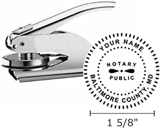 Maryland Notary Seal Embosser, Pocket/Hand Model, 1-5/8