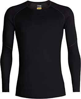 Icebreaker Merino Men's Zone Lightweight Base Layer Long Sleeve Crew Neck Shirt, Merino Wool