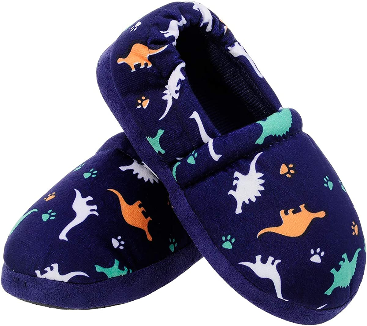 MIXIN Little Kids Boys Over item handling Indoor House Soft Slippers Warm M Minneapolis Mall Slip-on