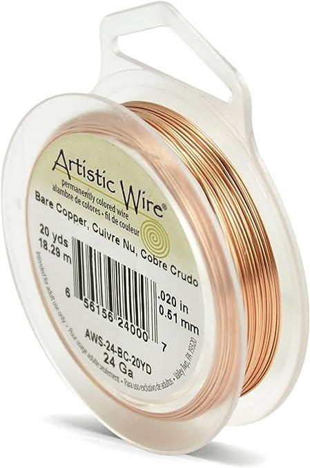 15 yards Artistic Wire 20 gauge Bare Copper