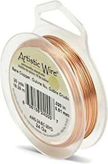 Beadalon Artistic, 24 Gauge, Bare Copper, 20 yd (18.3 m) Craft Wire