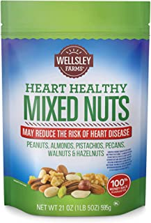 Wellsley Farms Heart Healthy Mixed Nuts, 21 Ounce