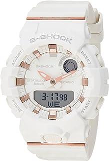 ساعة انالوج بعقارب ورقمية بسوار راتنج للنساء من كاسيو G-Shock - ابيض