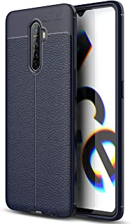 Realme X2 Pro Case, Realme X2 Pro Faux Leather Case, Soft Case Anti-Slip TPU Cover for Realme X2 Pro