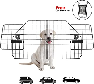 Dog Car Barriers,Pet Car Barrier Heavy Duty Wire Adjustable Dog Barrier with Front Seat Mesh Pet Barrier Net Organizer,The Perfect Dog Dividers for SUV,Cars,Vehicles