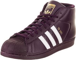 adidas  Men's Pro Model, White/Super Purple/Gold Metallic, 8.5 M US