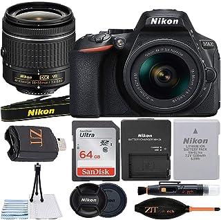 Nikon D5600 デジタル一眼レフカメラ 24.2MP NIKKOR 18-55mm f/3.5-5.6G VRレンズ SanDisk 64GB メモリーカード ケース 三脚 ZeeTech アクセサリーバンドル (ブラック)
