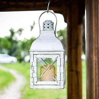Ninganju 14 Inches Tall Inches Vintage Decorative Lantern Cross-X-Design Outdoor Hanging Lantern for Garden Yard, Indoor & Outdoor Decoration
