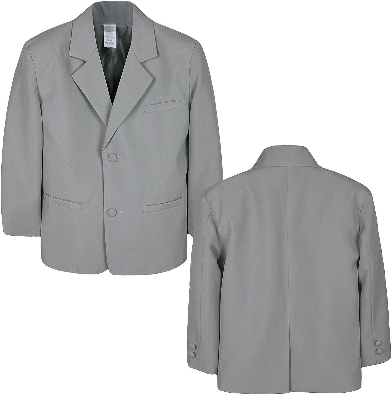Boy Infant Kid Teen Formal Wedding Party Church Blazer Gray Jacket Coat sz S-20